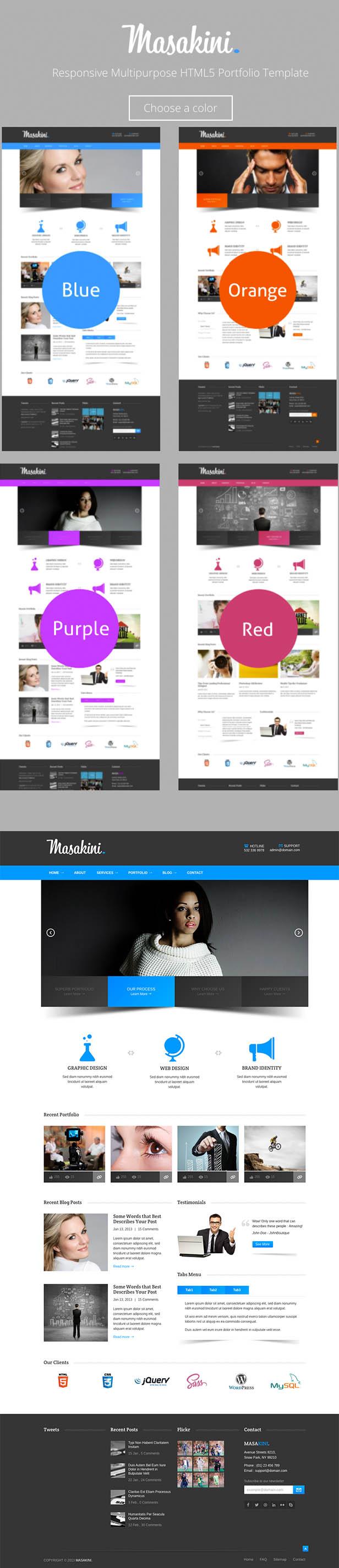 Masakini Multi-purpose Responsive HTML Template - 9