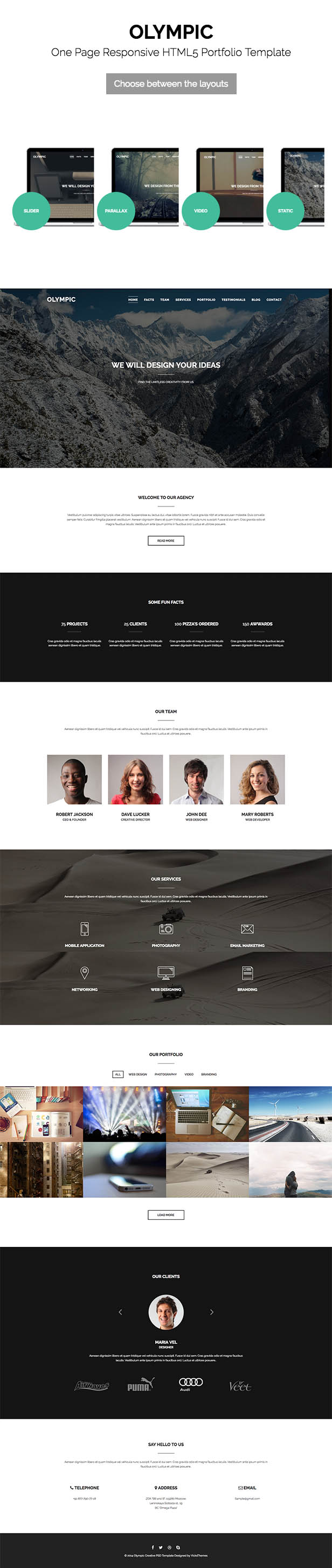 Olympic One Page Parallax Template - 9