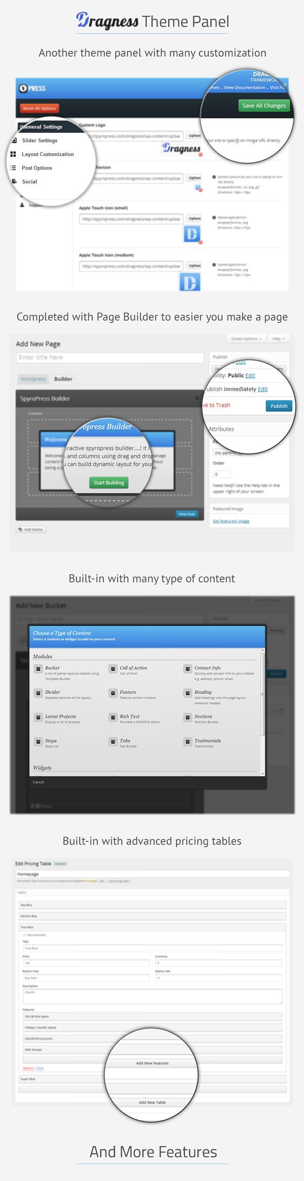 Фото Шаблон Wordpress  Dragness - Premium WordPress Landing Page — dragness banner