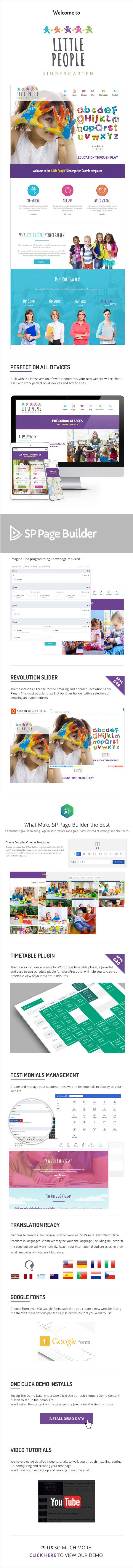 Little People | Kindergarten Joomla Template for PreScool and infants, nurseries and play school - 10