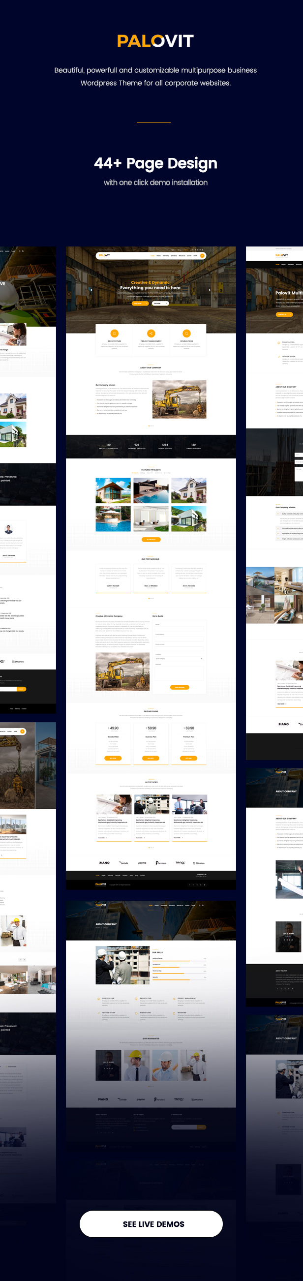 Palovit - WordPress Construction, Building Business, Construction Corporate