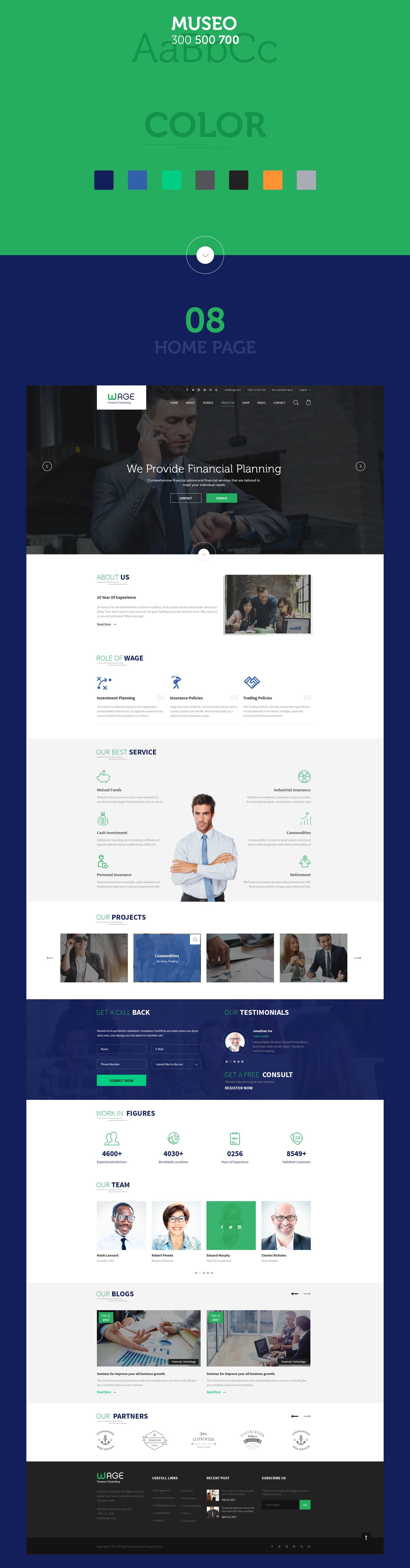 Wage - Business and Finance WordPress Theme - 7