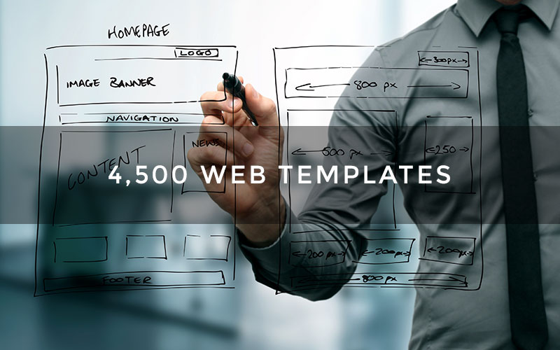 4,500 Web Templates