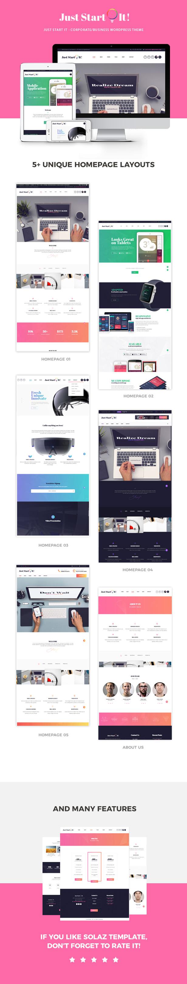 Just Start It - Best WordPress Theme 2019