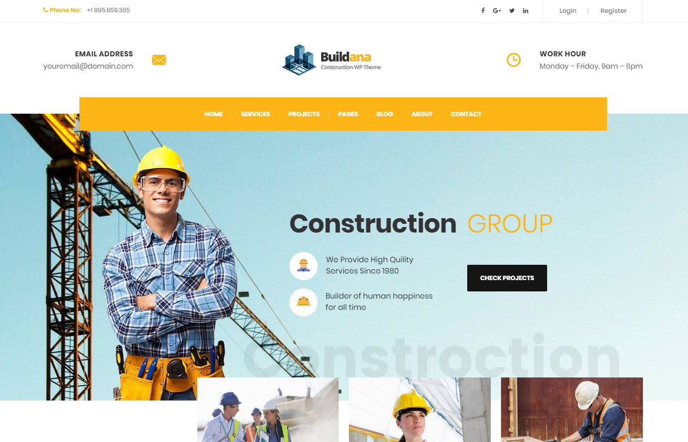 10+ Best Construction Company WordPress Themes 2018 - Best