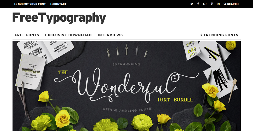 22 Best Websites to Download Free Fonts - Best WordPress