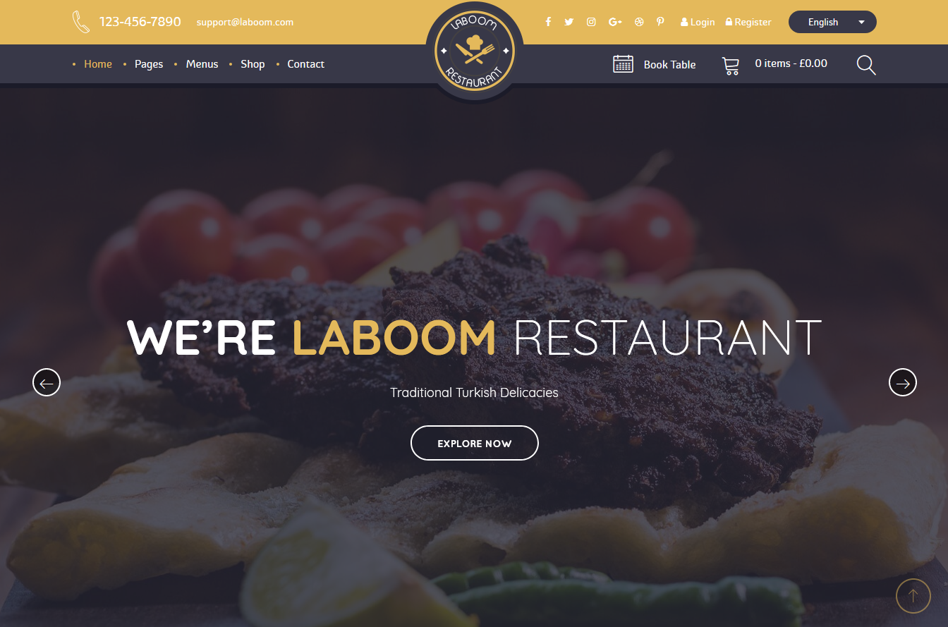 Premium Restaurant WordPress Theme Advantages Best