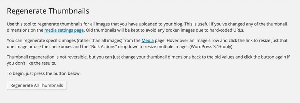 Refresh your images with the Regenerate Thumbnails plugin - Best