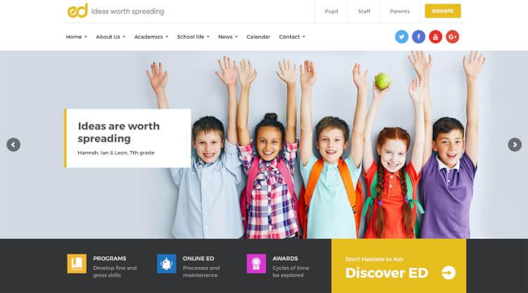 7+ Best School WordPress Themes 2018   Best WordPress Theme 2018