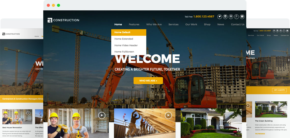 Construction Gives You Everything You Need To Create A Professional Online  Presence For Your Business, Whether You Want To Use The Out Of The Box  Templates ...