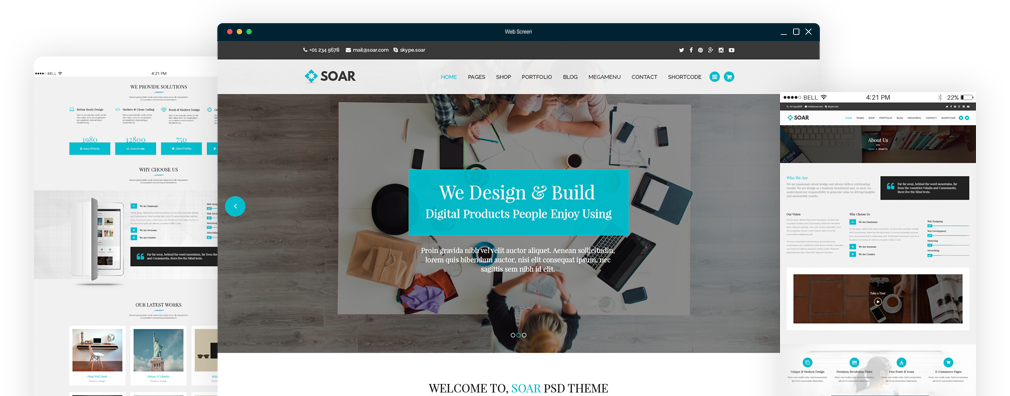Soar Responsive Multi-Purpose WordPress Theme